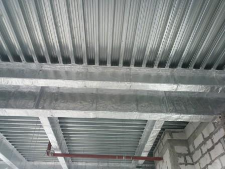 Fire protection of metal basalt cloth